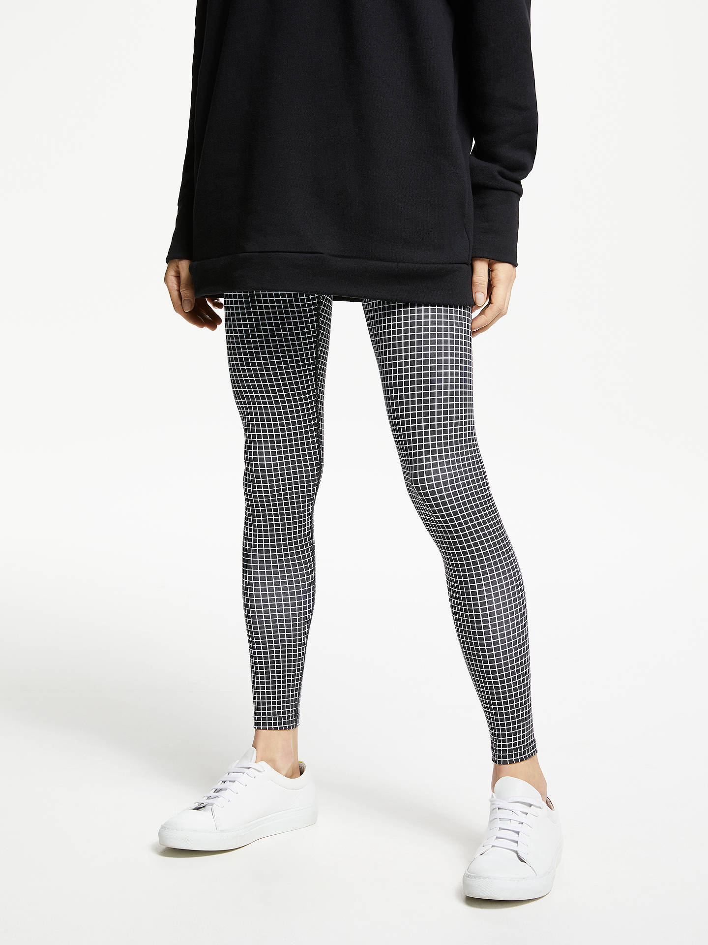 Buy PATTERNITY + John Lewis Grid Print Leggings, Black/White, M Online at johnlewis.com