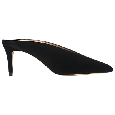 L.K.Bennett Celia Stiletto Heel Mules, Black Leather