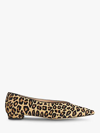 L.K.Bennett Constance Block Heel Pumps, Leopard Leather