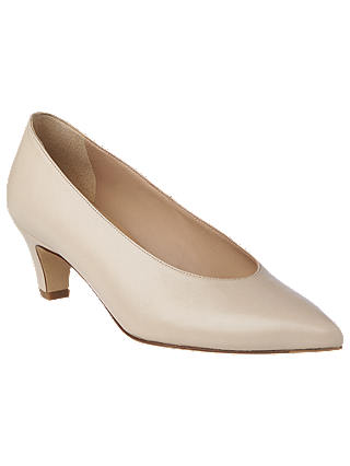 Buy L.K.Bennett Cordea Pointed Court Shoes, Bone Leather, 7 Online at johnlewis.com