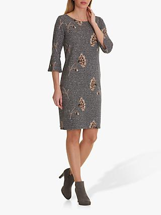Betty Barclay Floral Tweed Dress, Blue/Cream