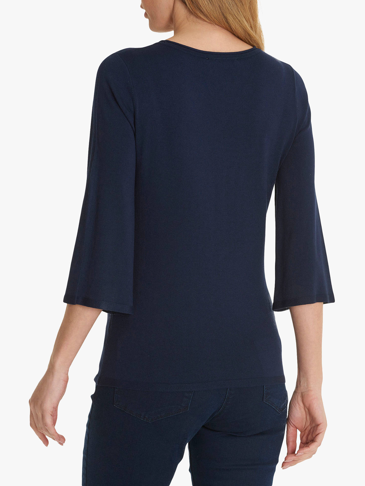 BuyBetty Barclay Fine Knit Embellished Jumper, Peacoat Blue, 10 Online at johnlewis.com