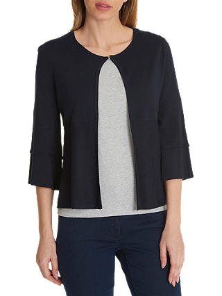 Buy Betty Barclay Short Fine Knit Cardigan, Dark Sky, 10 Online at johnlewis.com