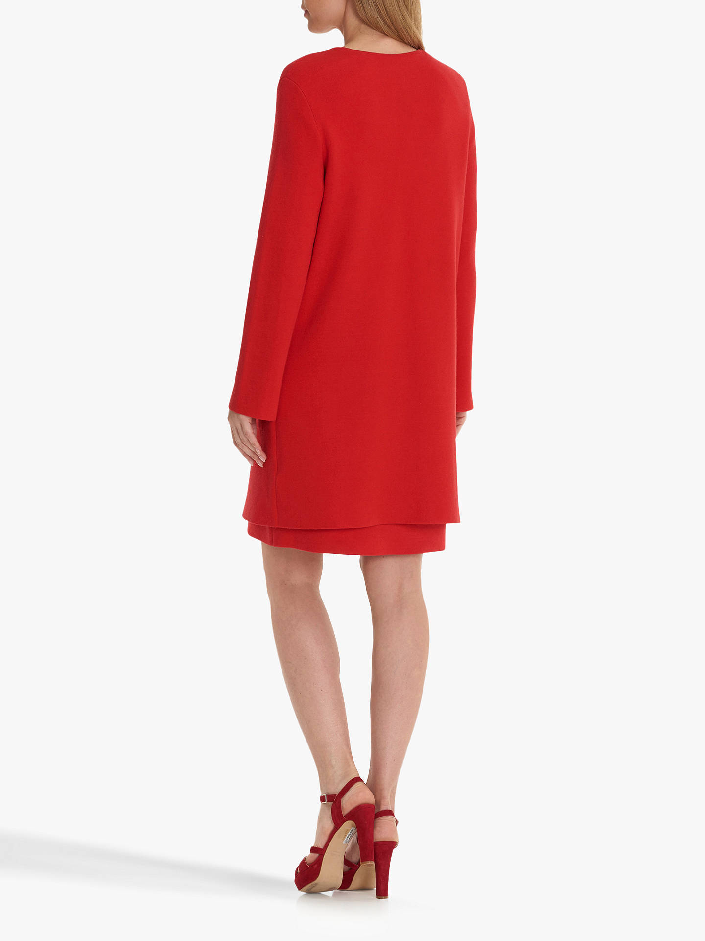 BuyBetty Barclay Long Cardigan, Hibiscus Red, 10 Online at johnlewis.com