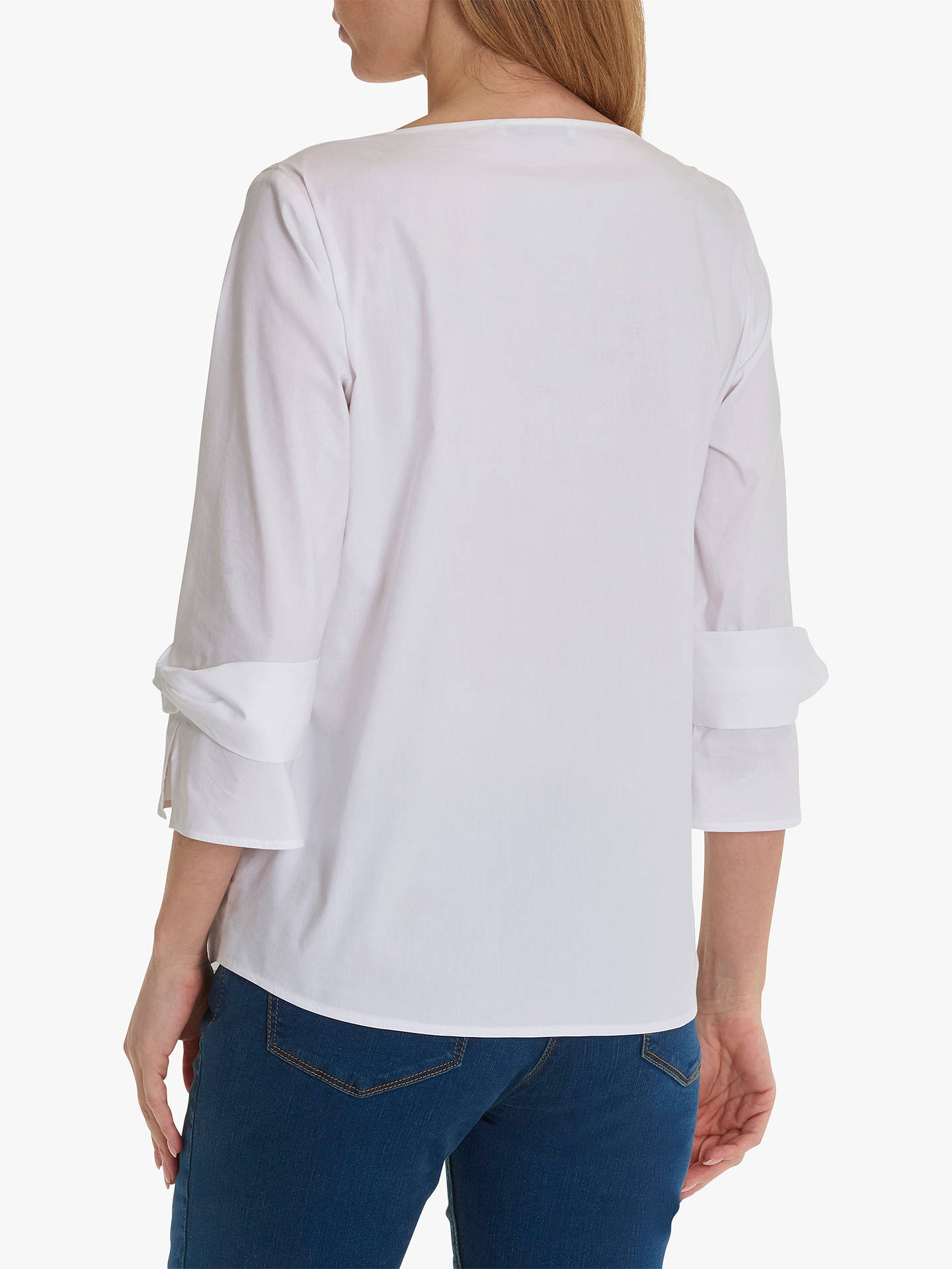 Buy Betty Barclay Knot Statement Sleeve V-Neck Blouse, Bright White, 10 Online at johnlewis.com