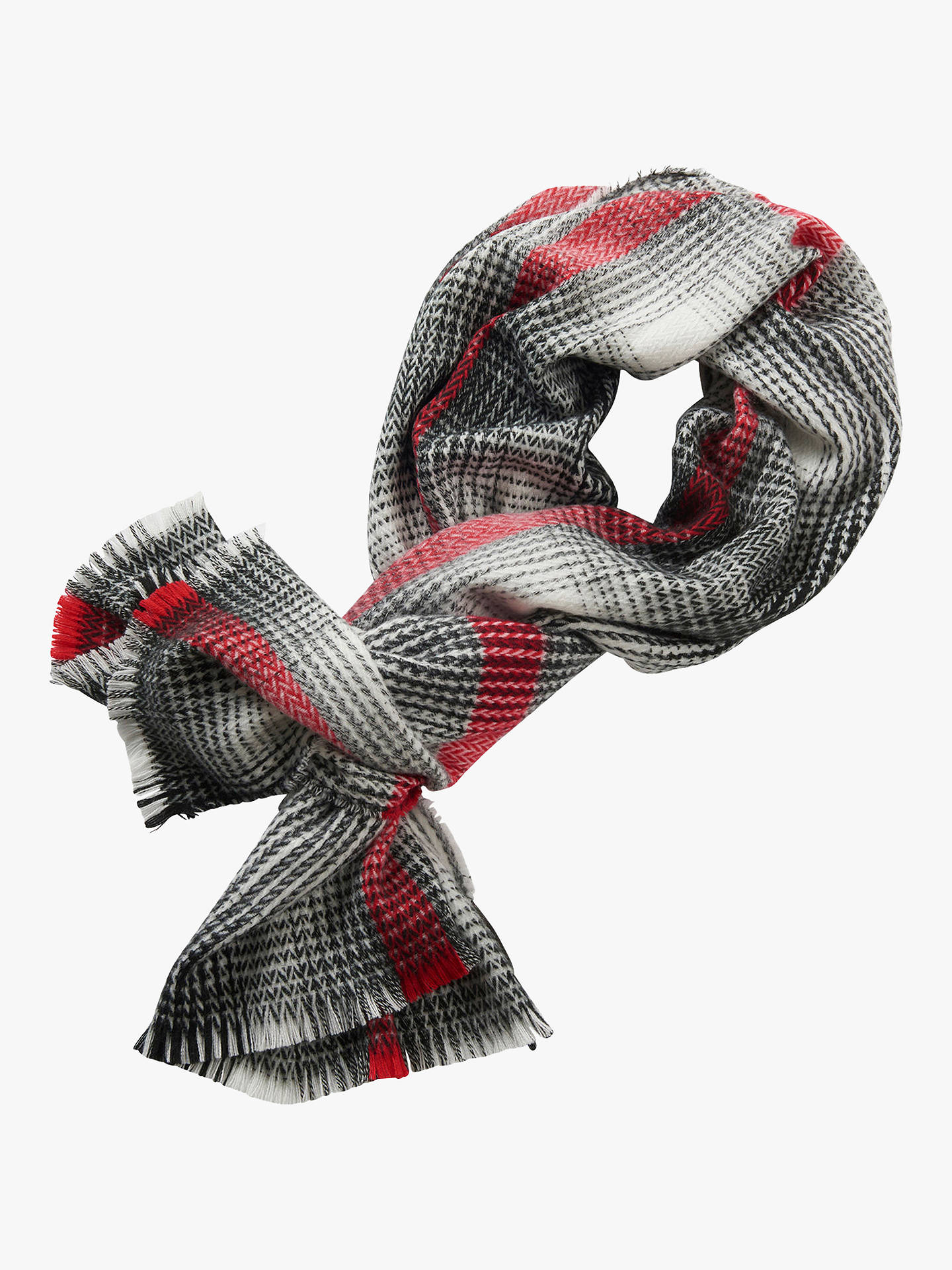 BuyBetty Barclay Check Scarf, Cream/Black Online at johnlewis.com