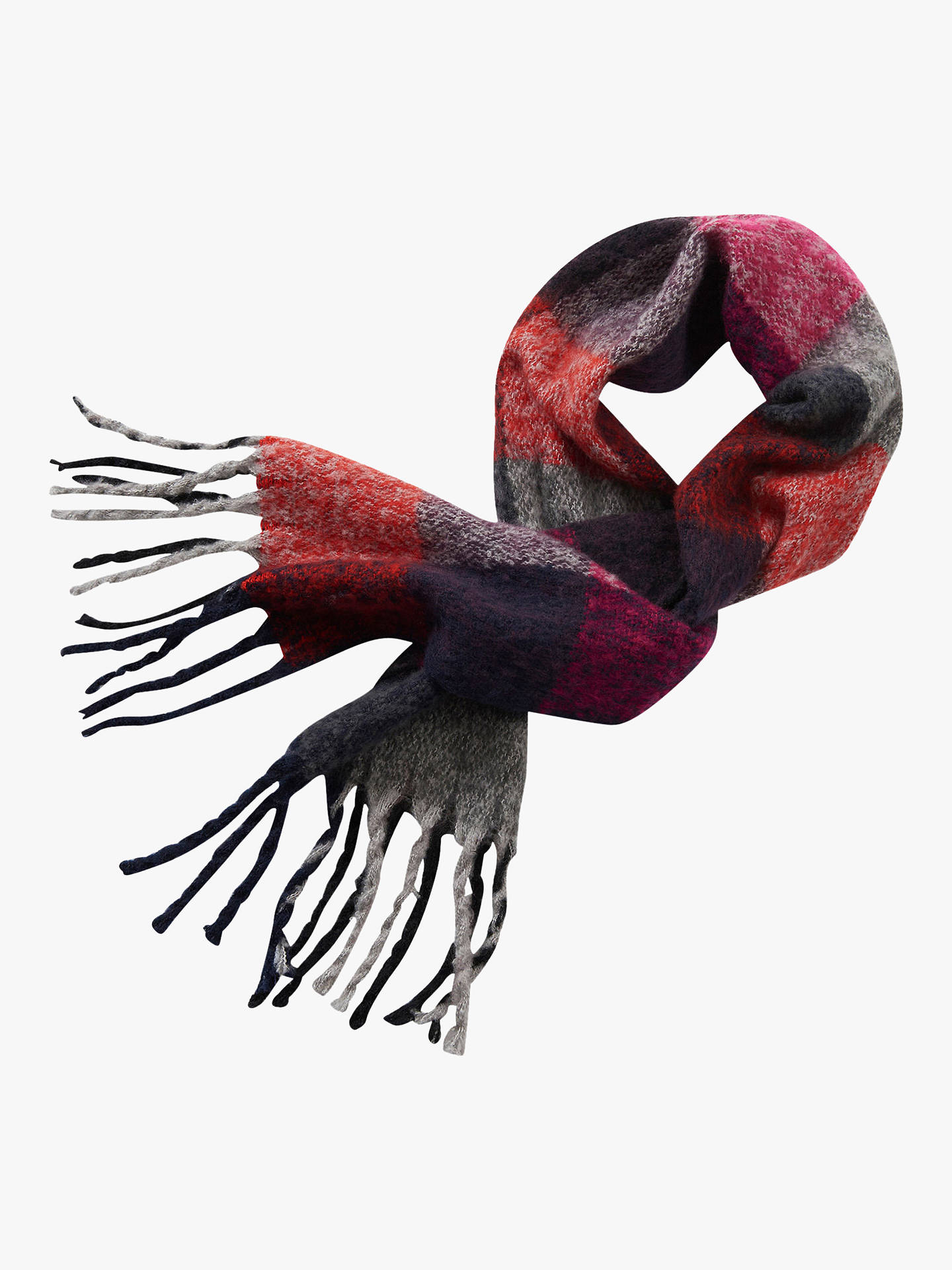 BuyBetty Barclay Check Scarf, Red/Multi Online at johnlewis.com