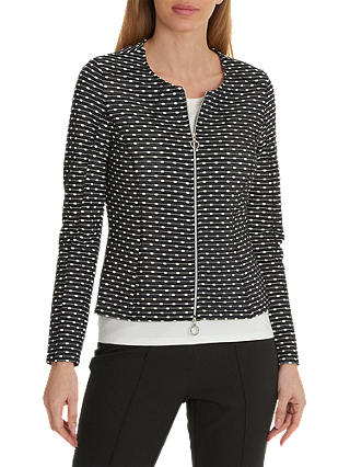 Buy Betty Barclay Textured Cardigan, Black/Cream, 12 Online at johnlewis.com