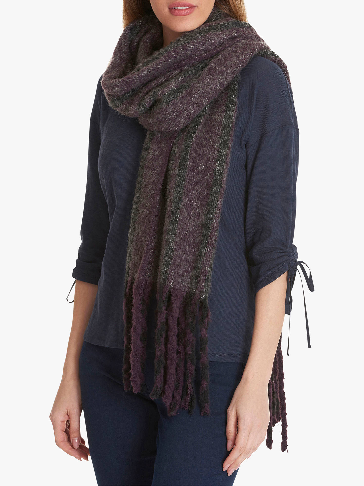 BuyBetty Barclay Check Scarf, Purple/Black Online at johnlewis.com