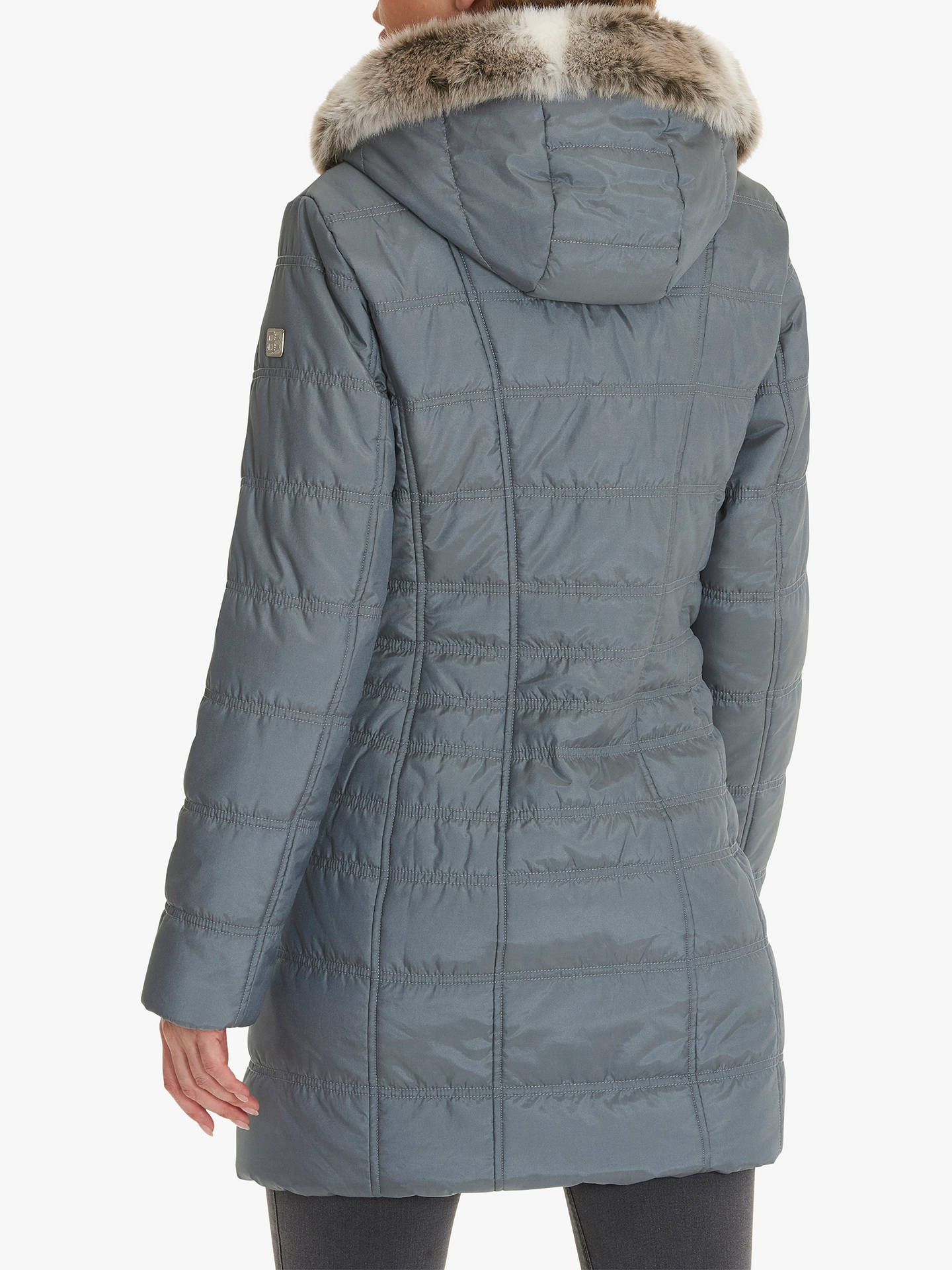 BuyBetty Barclay Quilted Puffer Coat, Ashley Blue, 10 Online at johnlewis.com