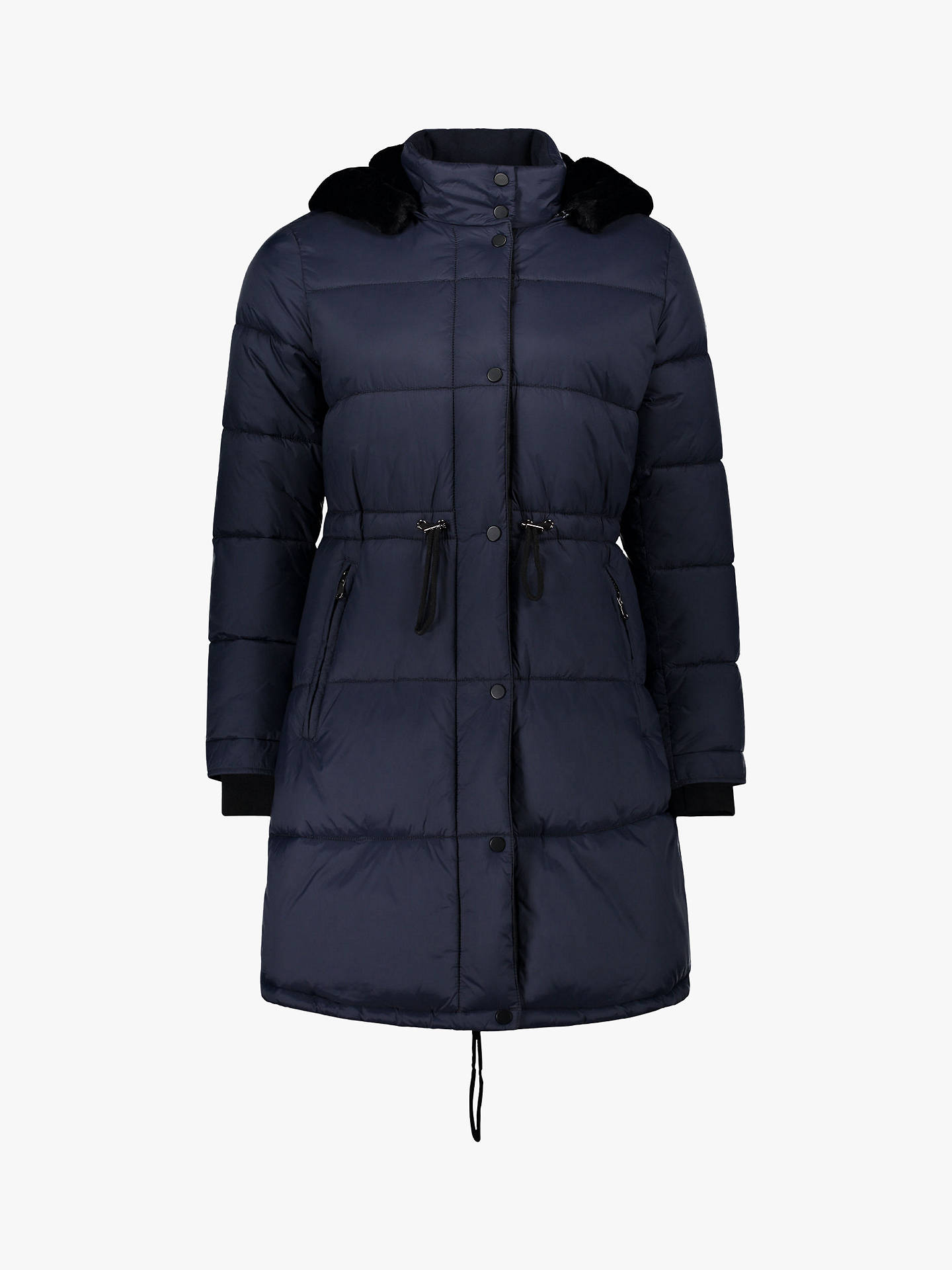 Buy Betty Barclay Quilted Drawstring Jacket, Eclipse, 10 Online at johnlewis.com