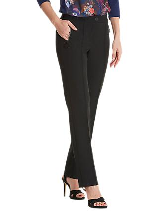 Betty Barclay Crepe Tailored Trousers, Black