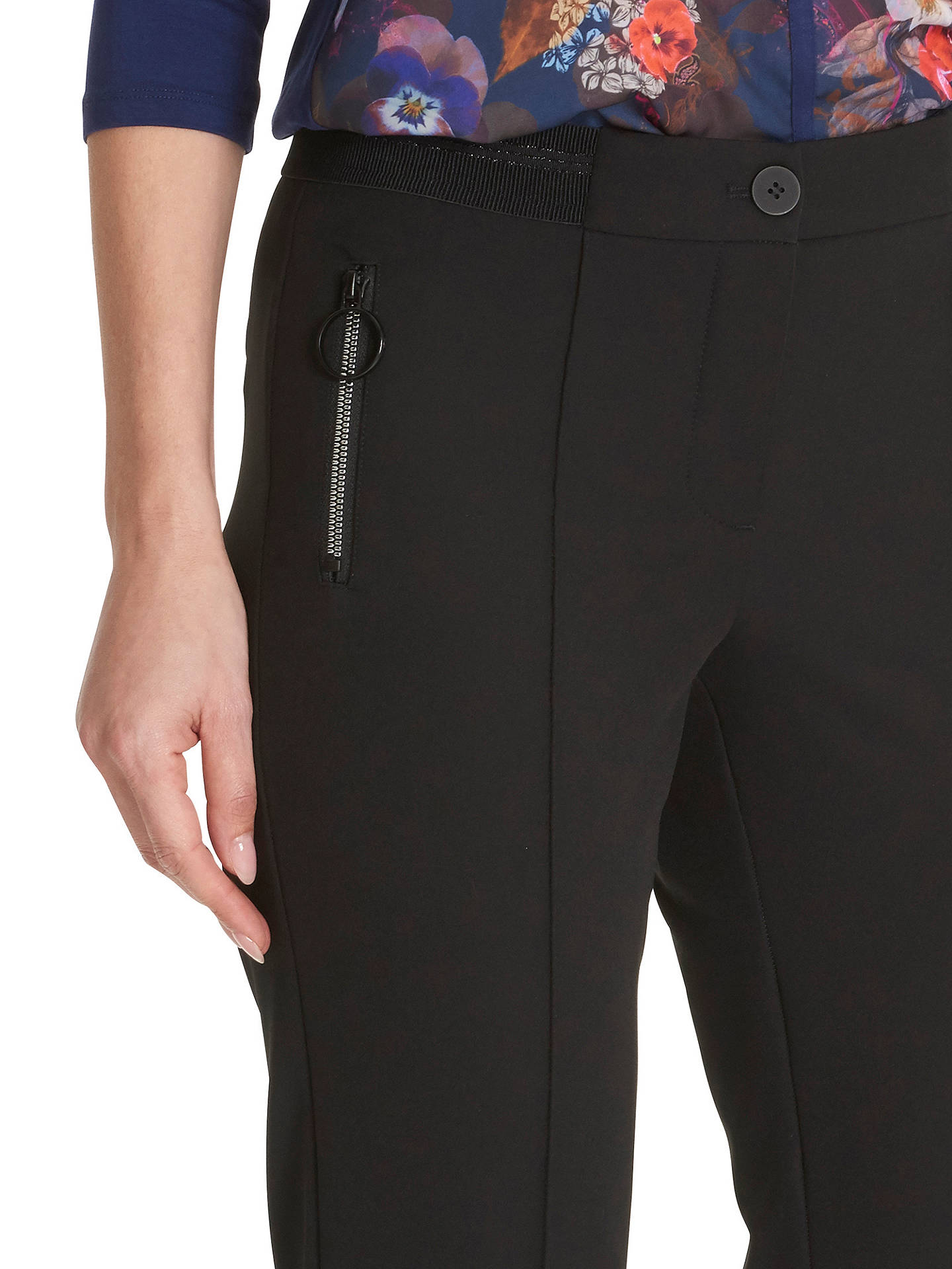 Buy Betty Barclay Crepe Tailored Trousers, Black, 10 Online at johnlewis.com