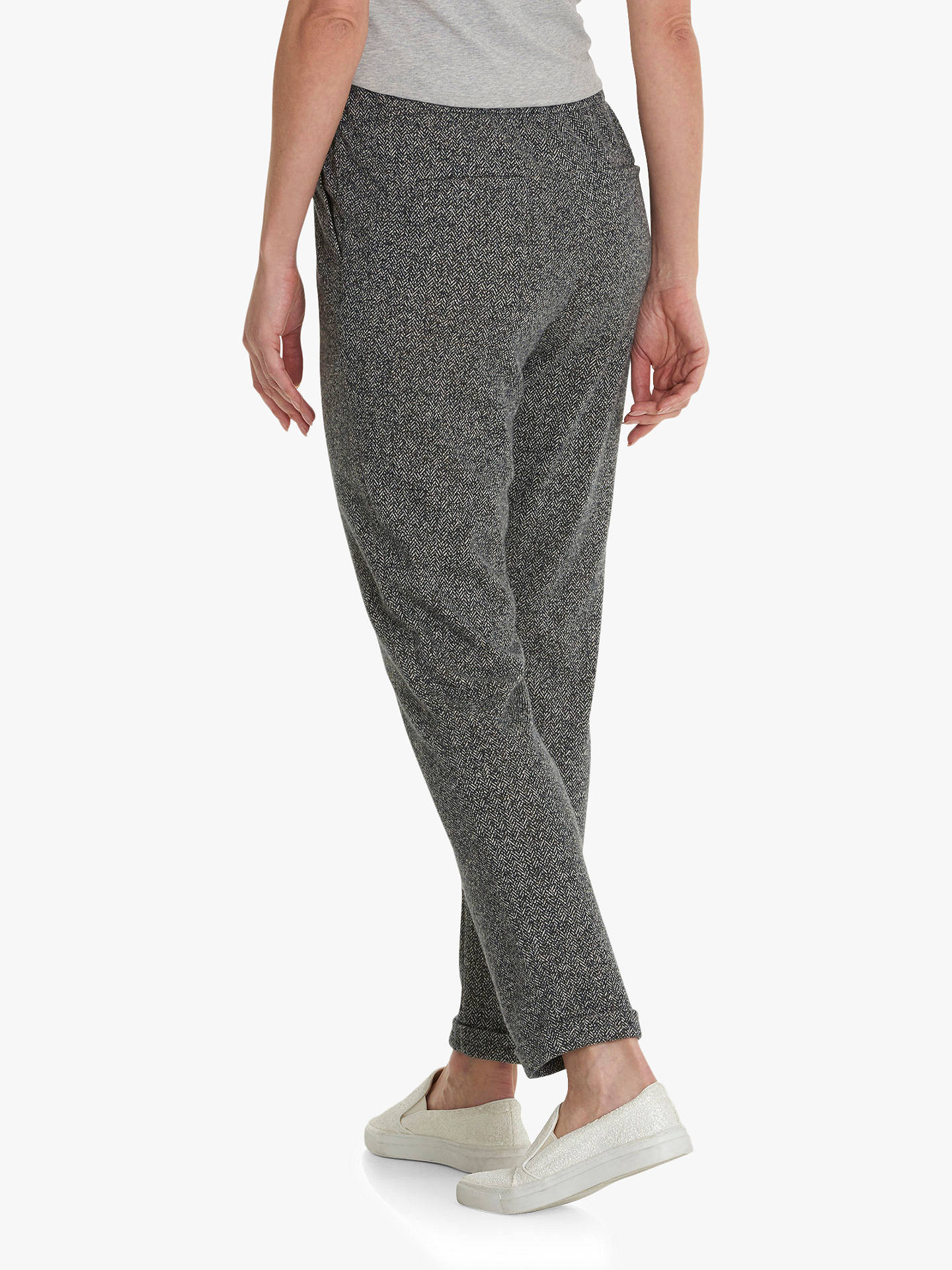 BuyBetty Barclay Sporty Tweed Trousers, Dark Blue/Cream, 14 Online at johnlewis.com