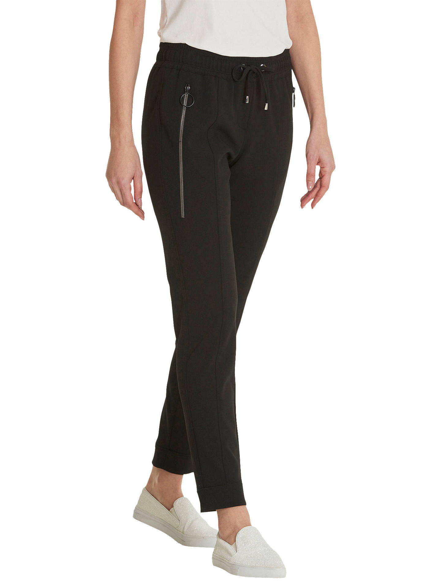BuyBetty Barclay Pull-On Crepe Trousers, Black, 16 Online at johnlewis.com