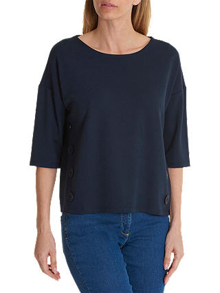 Buy Betty Barclay Button Trimmed Top, Dark Sky, 10 Online at johnlewis.com