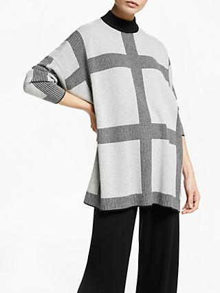 PATTERNITY + John Lewis Micro Macro Oversized Jumper, Grey