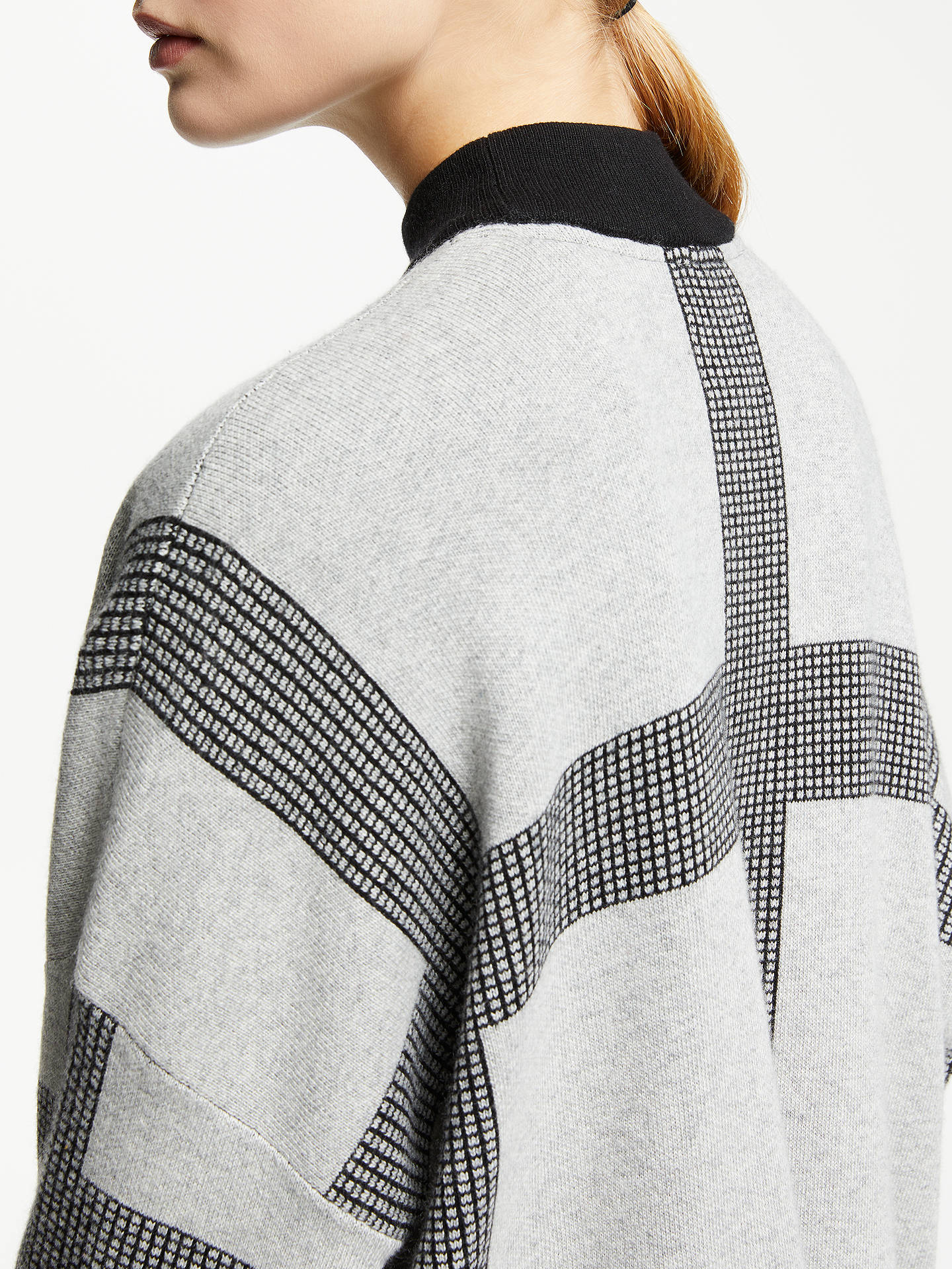 Buy PATTERNITY + John Lewis Micro Macro Oversized Jumper, Grey, S Online at johnlewis.com