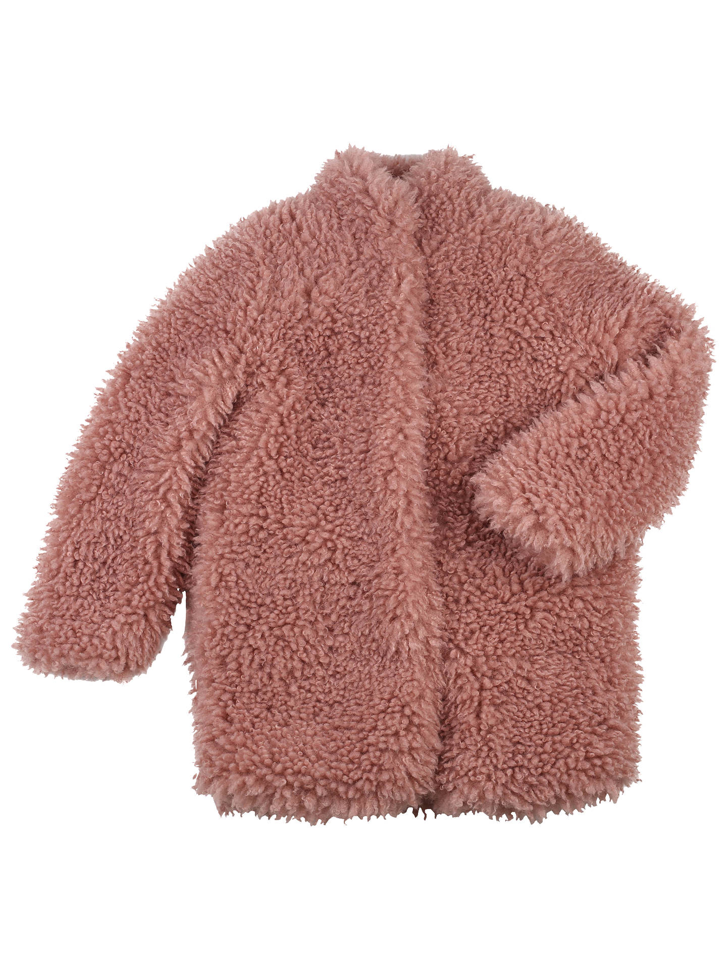 7a4044c469c Outside the Lines Girls' Teddy Faux Fur Coat, Pink at John Lewis ...