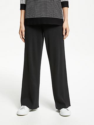 PATTERNITY + John Lewis Rib Knit Lounge Trousers, Black