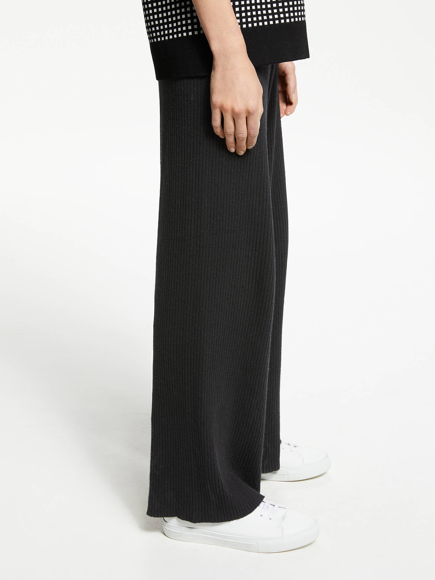 Buy PATTERNITY + John Lewis Rib Knit Lounge Trousers, Black, M Online at johnlewis.com