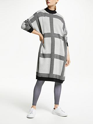 PATTERNITY + John Lewis Micro Macro Knitted Dress, Grey