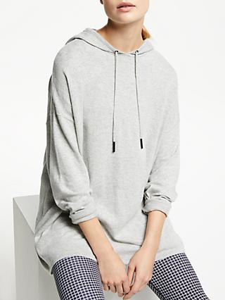 PATTERNITY + John Lewis Oversized Knitted Hoodie, Grey