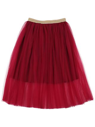 Outside the Lines Girls' Mesh Skirt, Red