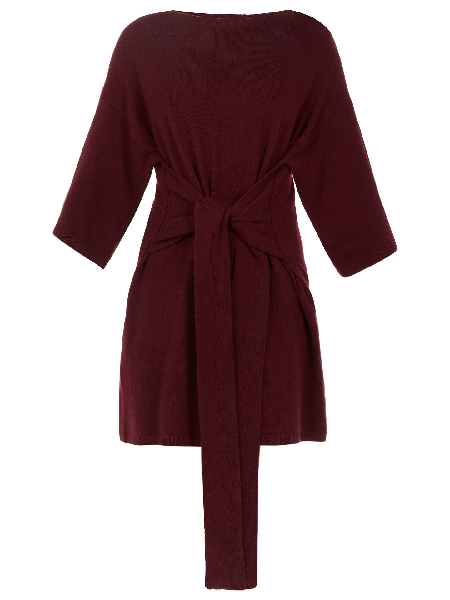 b4c5662563c5 ... Buy Ted Baker Ted Says Relax Olympy Tie Front Knitted Tunic Dress, Red,  2