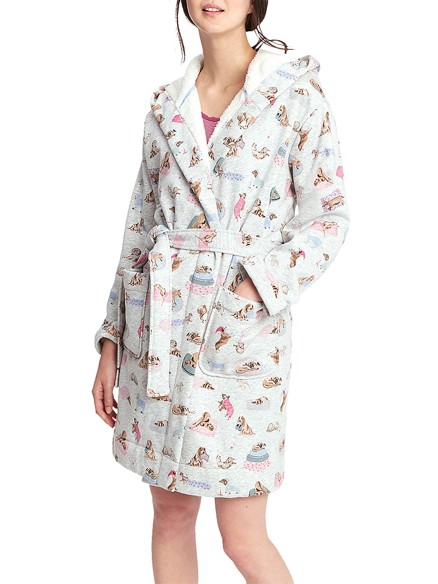 0c6b27f189 BuyJoules Idlewhile Dog Print Fleece Dressing Gown
