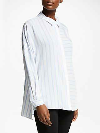 John Lewis & Partners Drop Sleeve Contrast Stripe Shirt