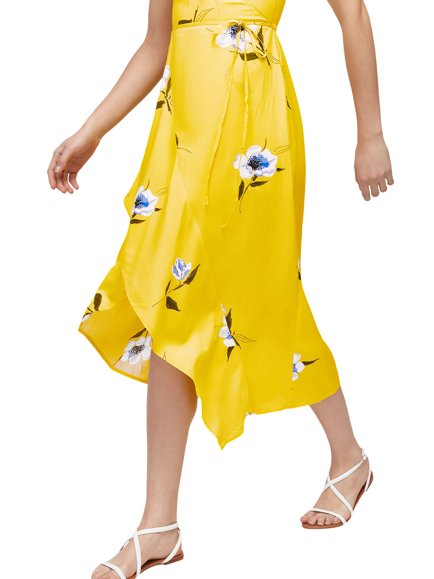 BuyWarehouse Floral Wrap Dress, Yellow, 6 Online at johnlewis.com