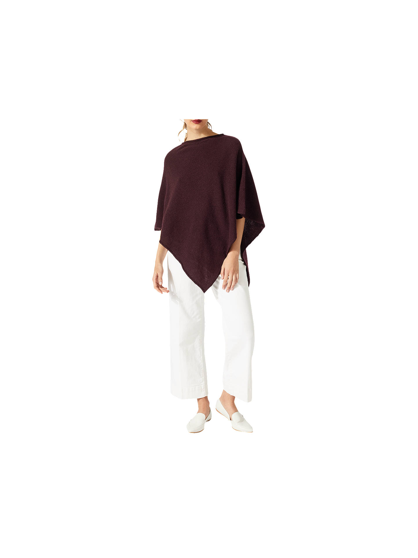 1cbceba6f Buy Jigsaw Wool Blend Rolled Poncho, Morello Cherry Online at johnlewis.com  ...