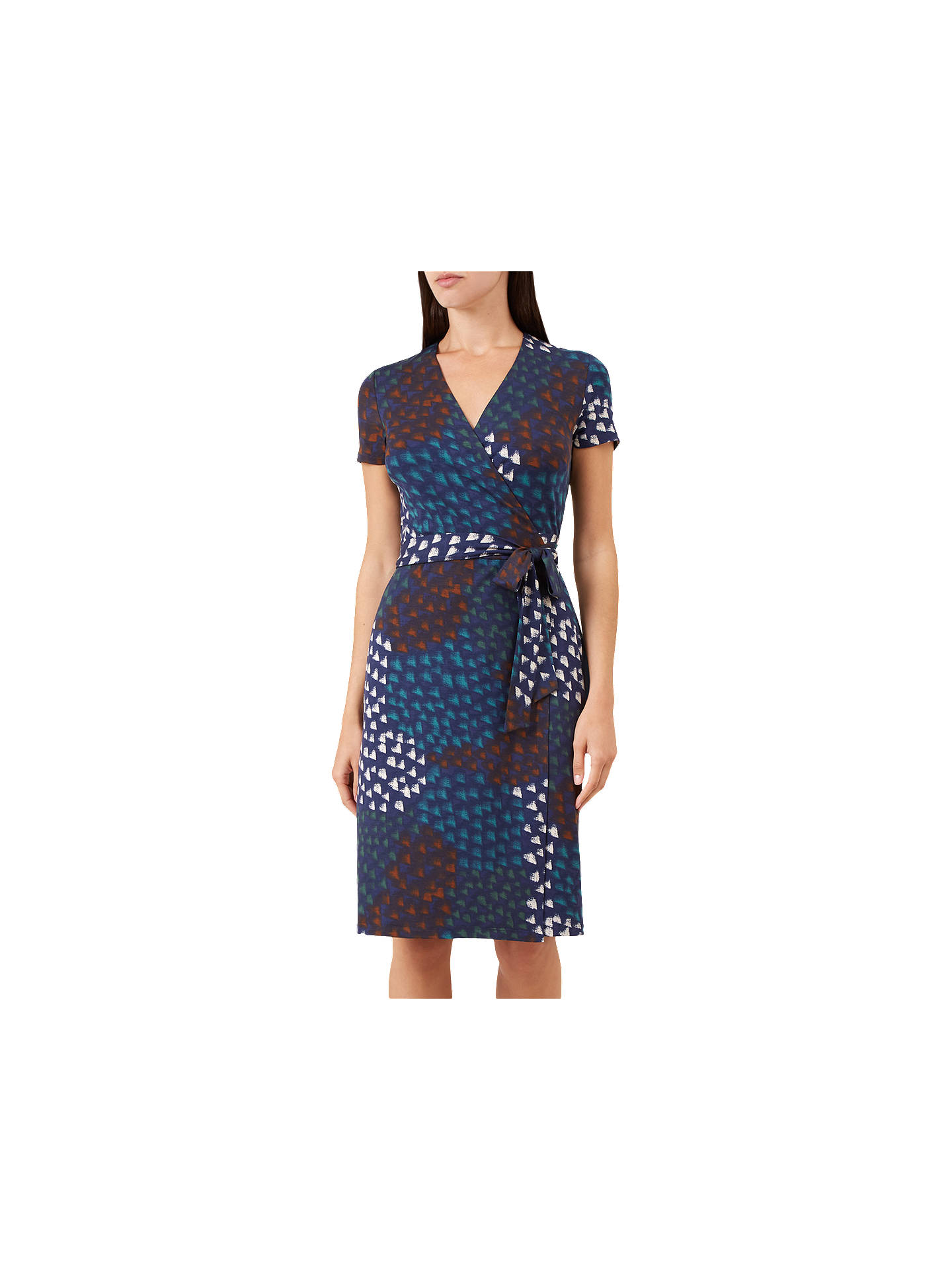 a0997354be2 Buy Hobbs Delilah Wrap Dress, Navy, 6 Online at johnlewis.com ...