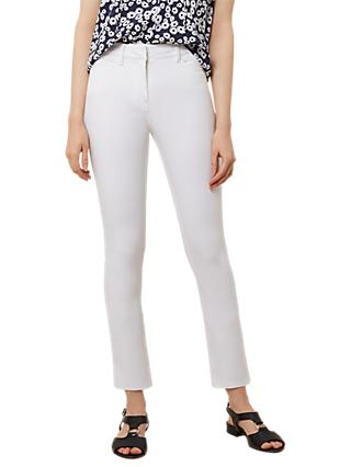 Hobbs Regular Amanda Jeans, White