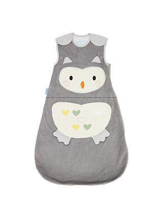 Grobag Ollie The Owl Grobag, 2.5 Tog, Grey