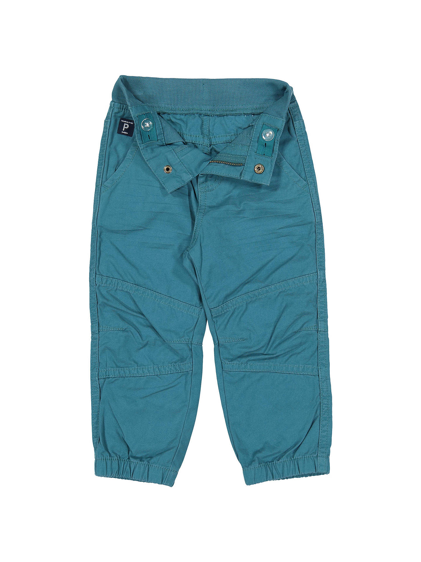 BuyPolarn O. Pyret Baby Cotton Cargo Trousers, Blue, 6-9 months Online at johnlewis.com