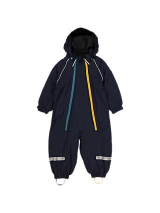 cc28fbc9 Polarn O. Pyret Baby Fleece Lined Waterproof Overall, Blue