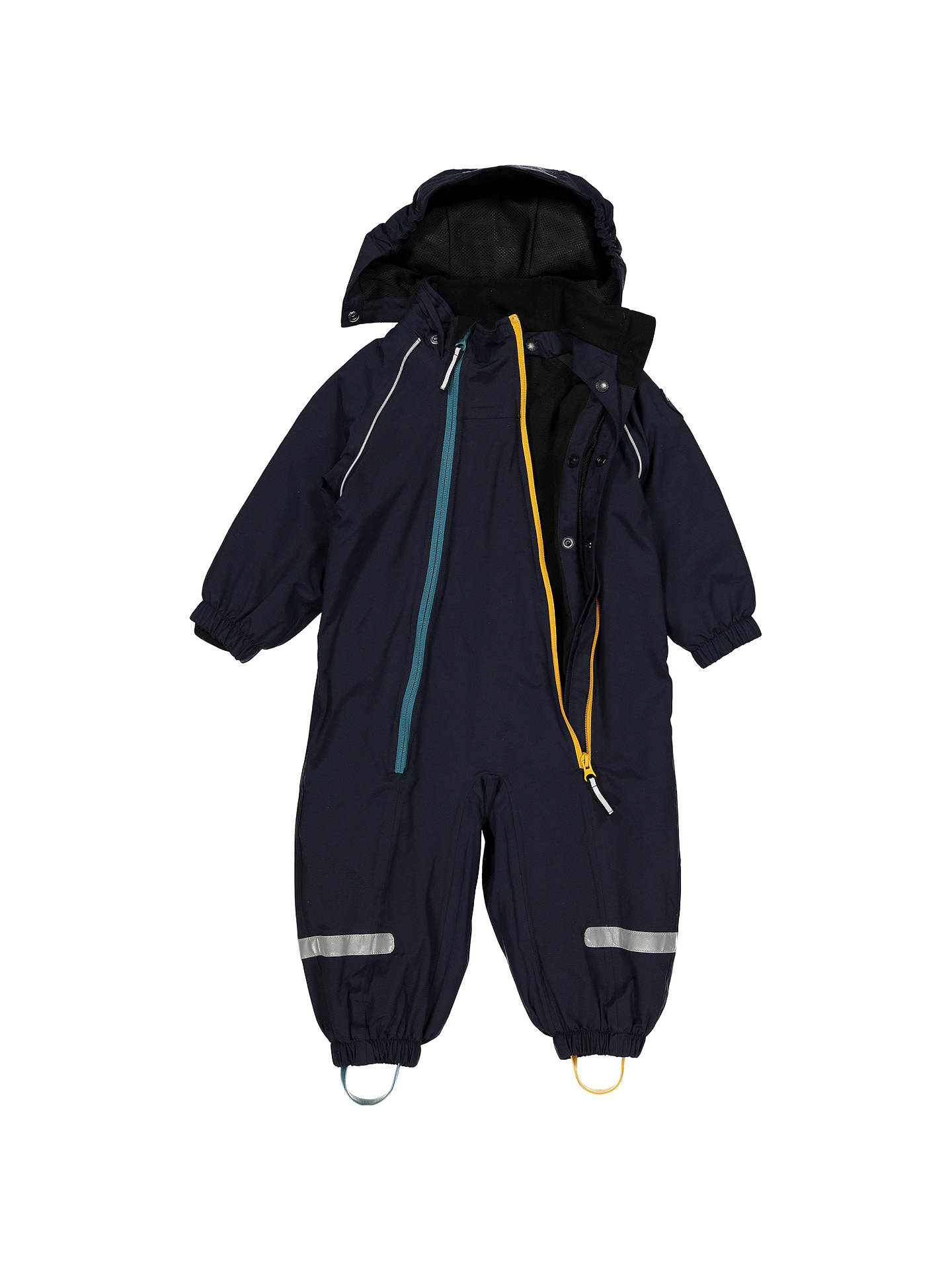 BuyPolarn O. Pyret Baby Fleece Waterproof Overall, Blue, 9-12 months Online at johnlewis.com