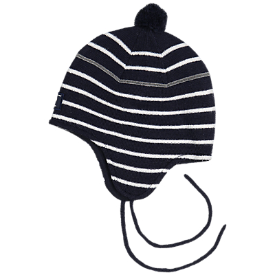 Image of Polarn O. Pyret Baby Stripe Hat, Blue