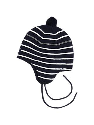 Polarn O. Pyret Baby Stripe Hat, Blue