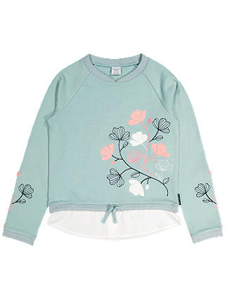 Buy Polarn O. Pyret Children's Embroidered Top, Green, 6-8 years Online at johnlewis.com