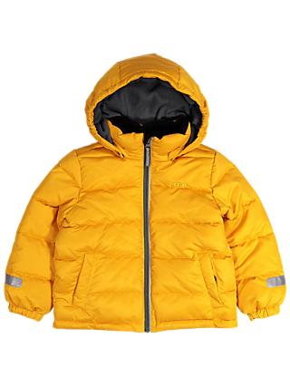 Polarn O. Pyret Children's Padded Coat, Yellow