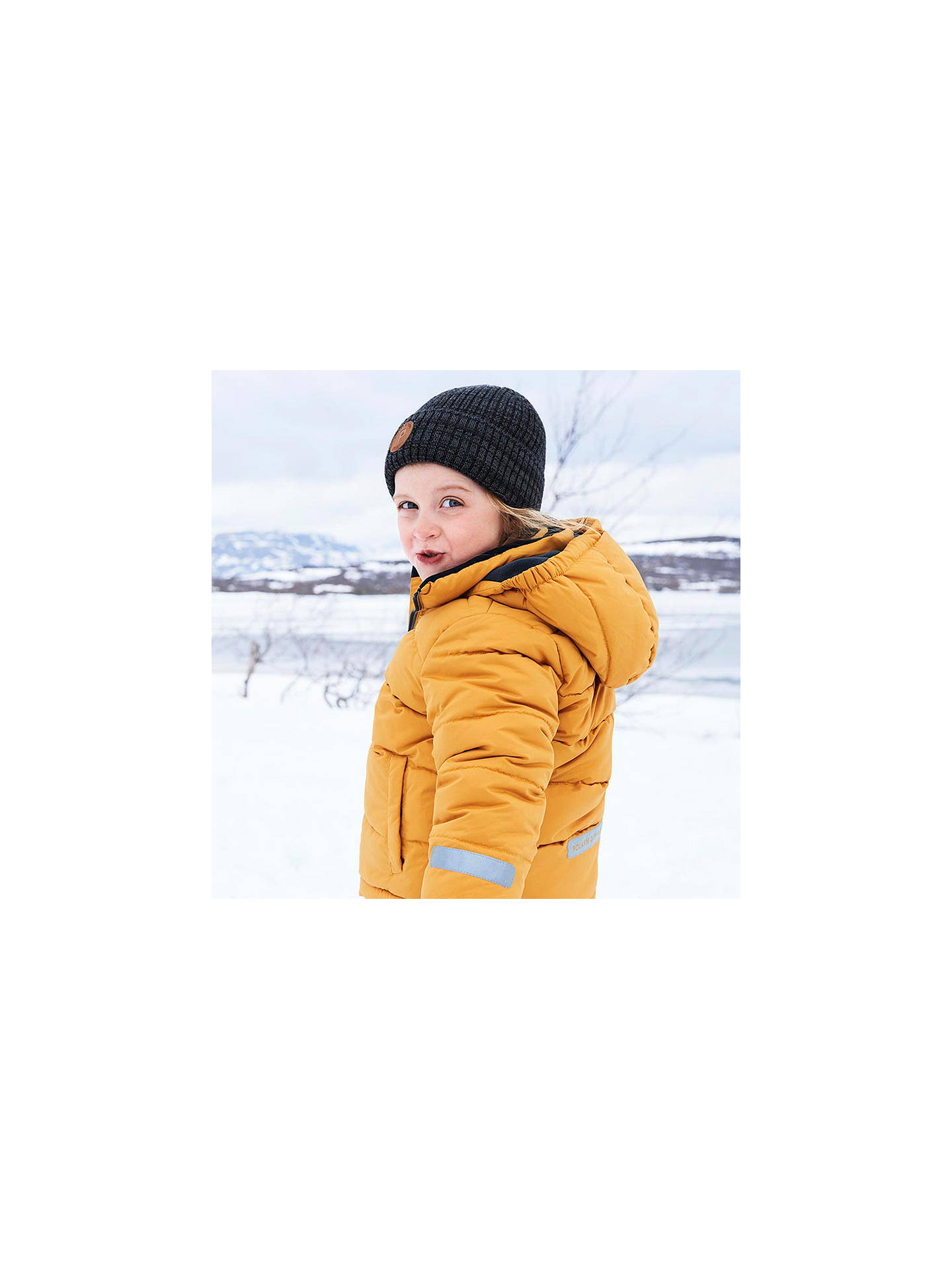 BuyPolarn O. Pyret Children's Padded Coat, Yellow, 8-9 years Online at johnlewis.com