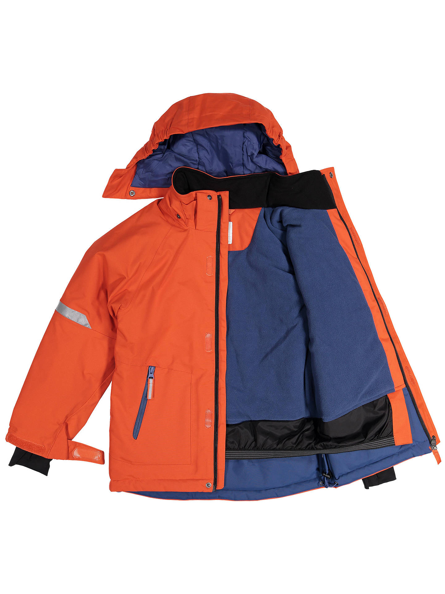 BuyPolarn O. Pyret Children's Waterproof Padded Jacket, Orange, 2-3 years Online at johnlewis.com