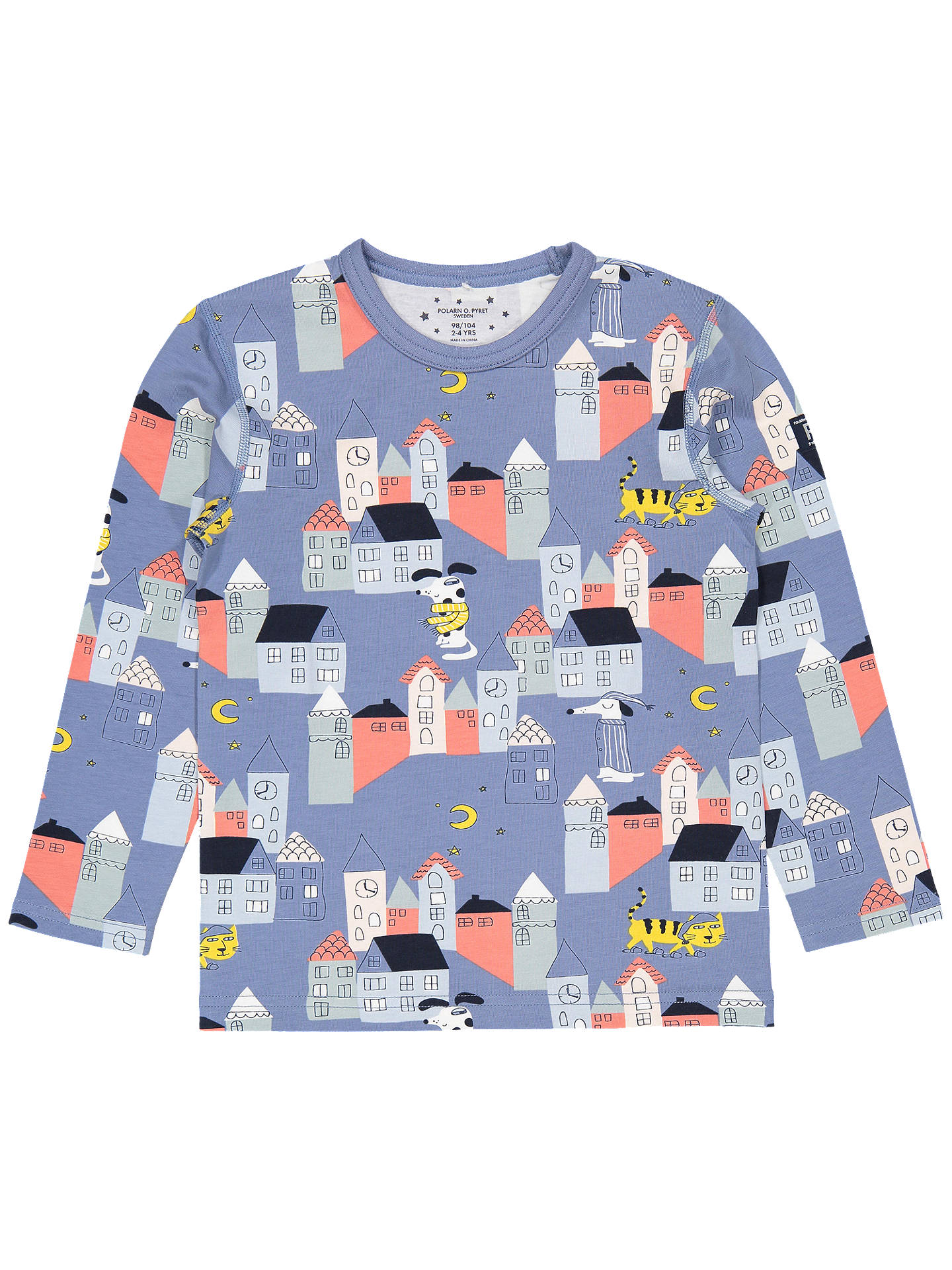 BuyPolarn O. Pyret Children's Town Pyjamas, Blue, 2-4 years Online at johnlewis.com