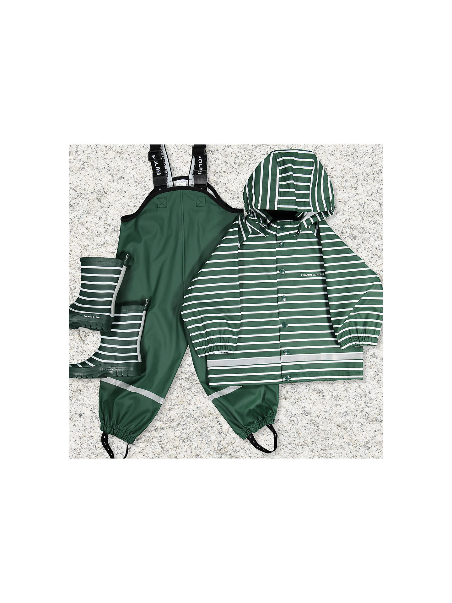 Buy Polarn O. Pyret Children's Rain Trousers, Green, 12-24 months Online at johnlewis.com