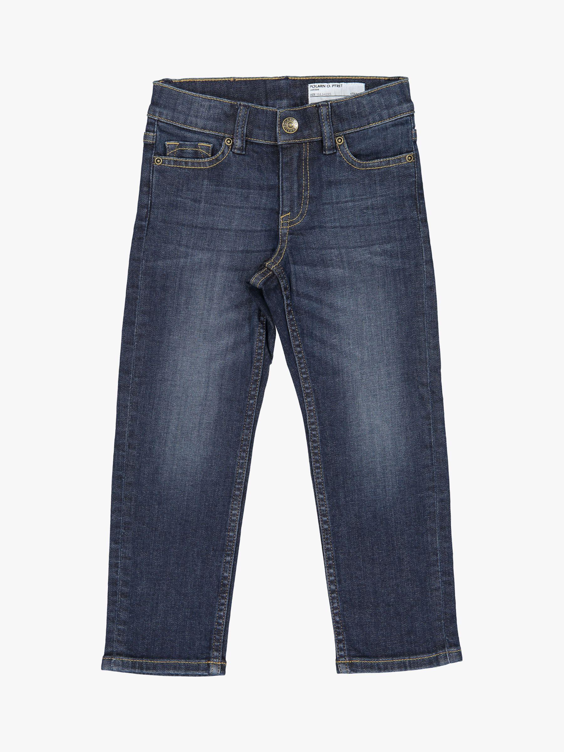 Polarn O. Pyret Polarn O. Pyret Children's Regular Fit Denim Jeans, Blue