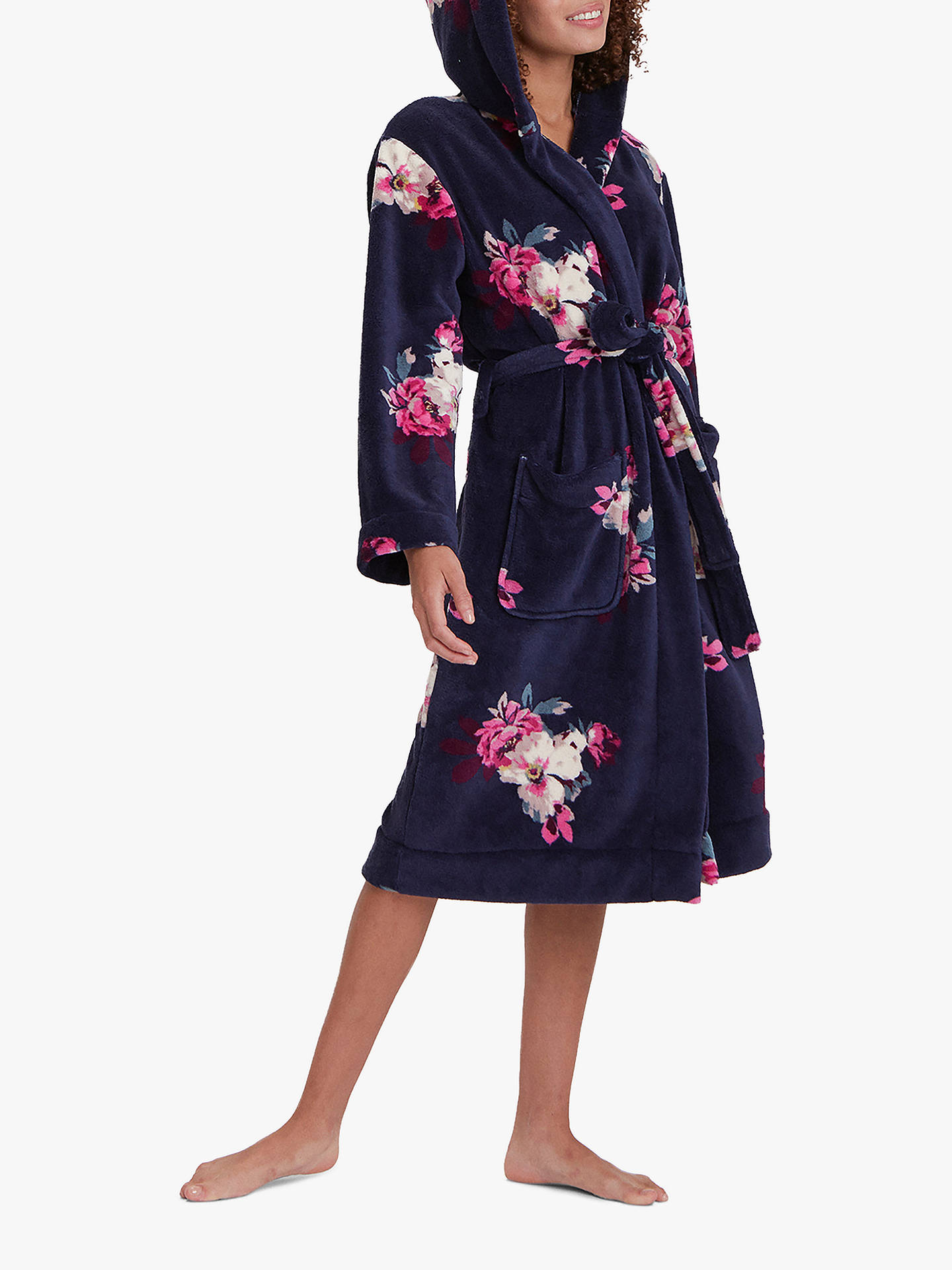 55573f82975 Buy Joules Rita Floral Print Fleece Dressing Gown