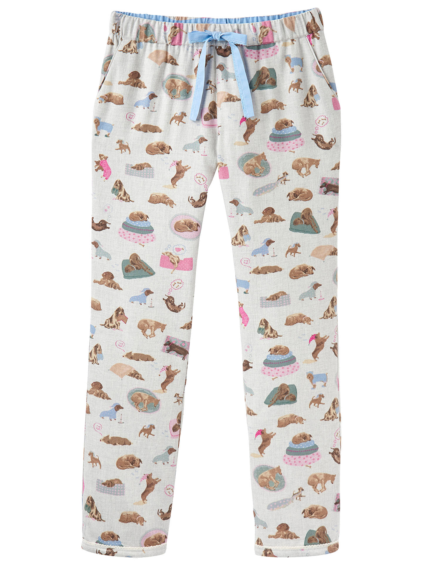 BuyJoules Snooze Dog Print Cotton Pyjama Bottoms e109d3757